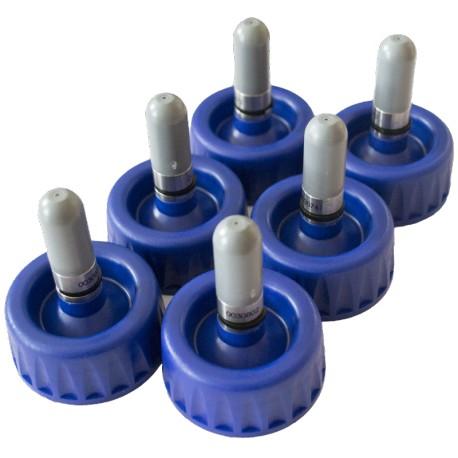 Lot de 6 * bouchons-valves 0,5L - gris pour BASF