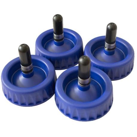 Lot de 4 * bouchons-valves 1L - noir pour AKZO/AXALTA/PPG/NEXA AUTOCOLOR